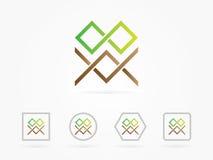 Forma di progettazione dell'illustrazione di vettore per il logo di affari Immagine Stock Libera da Diritti