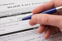 Forma di reclamo dell'assicurazione malattia Immagine Stock Libera da Diritti