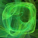 Forma di schermo astratta con le linee curve Verde sull'illustrazione nera del fondo illustrazione di stock