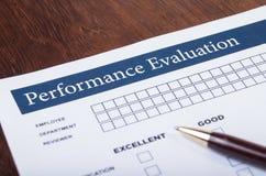 Forma di valutazione delle prestazioni immagini stock