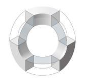 Forma di vettore di curvatura dell'estratto Marca isometrica di istituzione scientifica, centro di ricerca, laboratori biologici royalty illustrazione gratis
