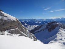 Forma di vista la cima di Pilatus (Lucerna) Immagini Stock Libere da Diritti