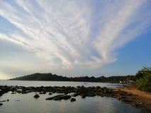 Forma differente della nuvola fotografia stock