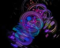 Forma digitale astratta di caos di concetto di frattale, modello, discoteca, partito royalty illustrazione gratis