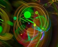 Forma digitale astratta di caos di concetto di immaginazione di frattale, modello, discoteca, partito illustrazione di stock