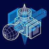 Forma dimensional do vetor abstrato isométrico, figura poligonal ilustração do vetor