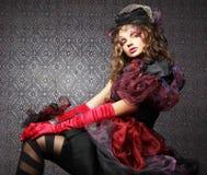 Forma disparada da mulher no estilo da boneca Composição creativa Dr. da fantasia Imagens de Stock Royalty Free