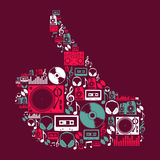 Forma disponivel dos ícones da música do DJ Fotos de Stock