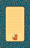 Forma dla listu z ślicznym psem ilustracja wektor