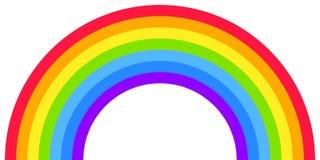 Forma do arco do arco-íris, meio círculo, cores brilhantes do espectro, teste padrão listrado colorido ilustração royalty free