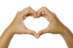 Forma do coração imagens de stock royalty free