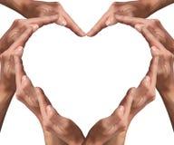 Forma 1 do coração Fotografia de Stock