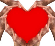 Forma 2 do coração Fotografia de Stock Royalty Free