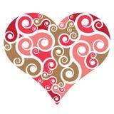 Forma do coração com redemoinhos Fotos de Stock Royalty Free