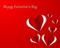 Forma do coração com texto do amor ilustração stock