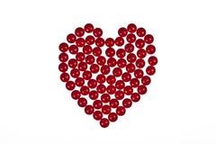 Forma do coração criada fora das tabuletas ilustração do vetor