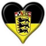 Forma do coração da bandeira da tecla de Baden Württemberg Fotografia de Stock