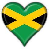 Forma do coração da bandeira da tecla de Jamaica Imagem de Stock Royalty Free