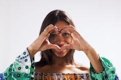 Forma do coração da mão Foto de Stock Royalty Free