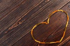 Forma do coração da massa espiral Foto de Stock