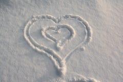 Forma do coração da neve Foto de Stock