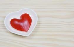 Forma do coração da paprika Imagem de Stock