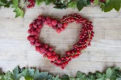 Forma do coração das bagas Fotografia de Stock Royalty Free