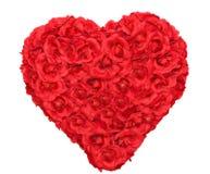 Forma do coração de Rosa floral Foto de Stock Royalty Free