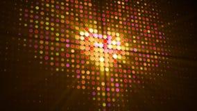 A forma do coração do diodo emissor de luz pontilha na ilustração digital do monitor 3D ilustração stock