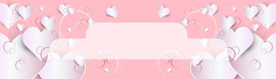 Forma do coração do amor de Valentine Day Gift Card Holiday ilustração stock