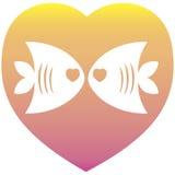 Forma do coração do amor do Valentim Imagem de Stock
