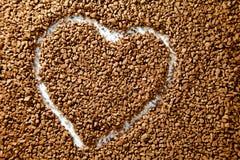 Forma do coração do café Imagem de Stock Royalty Free