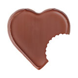 Forma do coração do chocolate Fotos de Stock