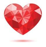 Forma do coração do diamante ilustração stock