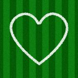 Forma do coração em um campo de futebol Imagem de Stock Royalty Free