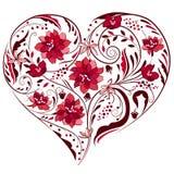 Forma do coração feita das flores Fotografia de Stock Royalty Free