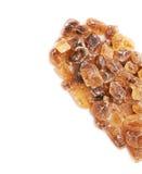 Forma do coração feita do açúcar da rocha Imagens de Stock Royalty Free