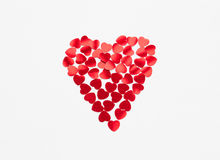 Forma do coração feita dos corações pequenos Imagem de Stock