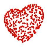 Forma do coração feito de corações minúsculos Foto de Stock Royalty Free