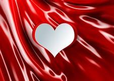 Forma do coração na seda Fotografia de Stock Royalty Free