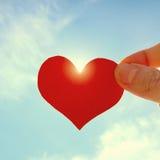 Forma do coração no céu fotos de stock