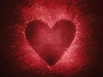 forma do coração no fundo abstrato vermelho imagens de stock royalty free