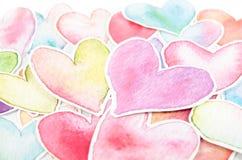 Forma do coração no fundo branco Foto de Stock