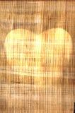 Forma do coração no pergaminho velho ilustração stock