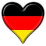 Forma do coração da bandeira da tecla de Alemanha Fotografia de Stock Royalty Free