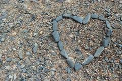 Forma do coração da rocha Fotografia de Stock