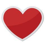 Forma do coração para símbolos do amor Fotografia de Stock