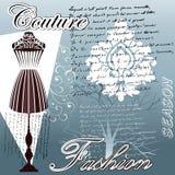 Forma do Couture Foto de Stock