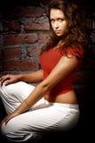 Forma do encanto - uma mulher nova 'sexy' Imagem de Stock