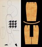 Forma do esboço ilustração stock